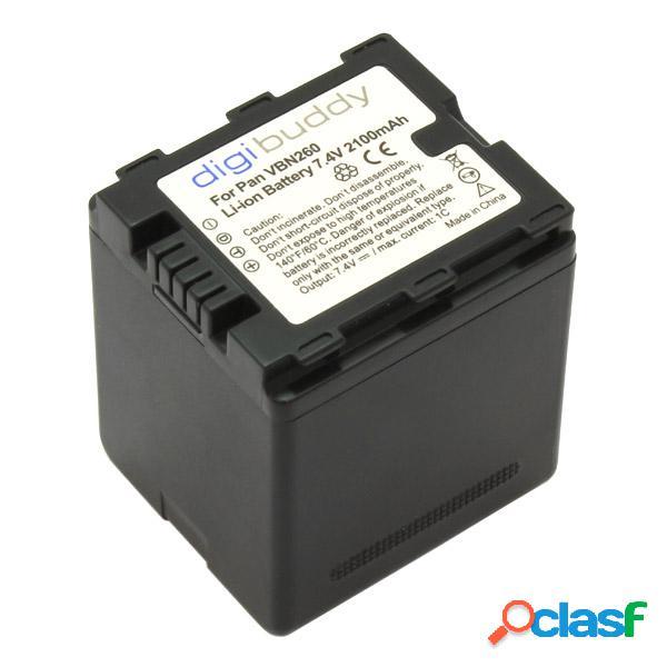 Bateria para Panasonic Vw-Vbn260 - digibuddy, 2100 mAh