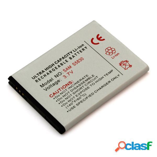 Bateria para Samsung Galaxy Ace, S5830, S-5830, Litio Ion