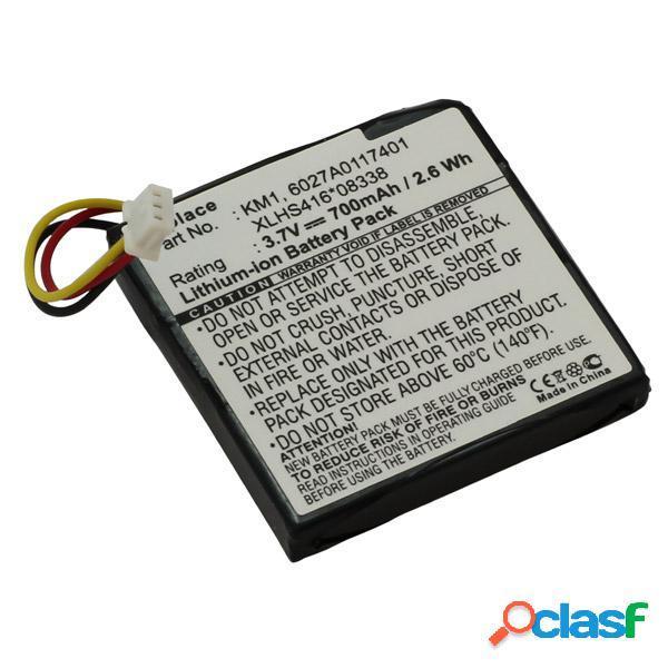 Bateria para TomTom via 120, via 125 Litio Ion