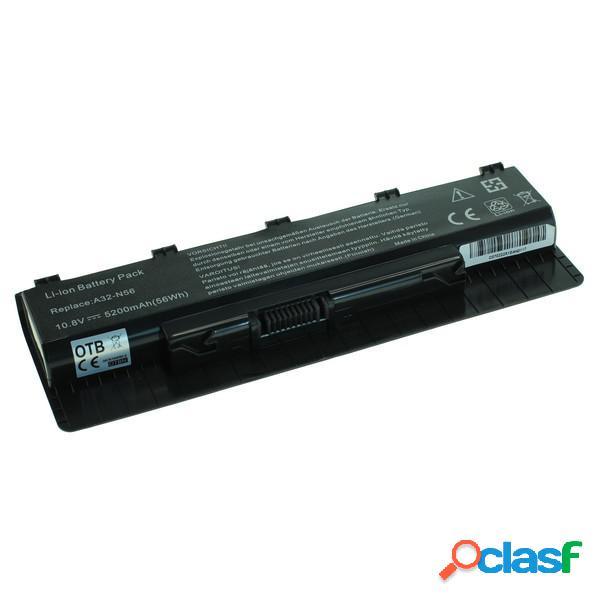 Bateria portatil Asus A32-N56, Litio Ion, 5200 mAh