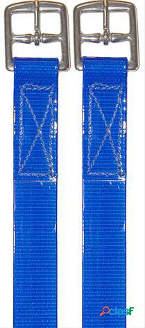 Biothane Acion Estribo Brillo 25Mm Azul Par