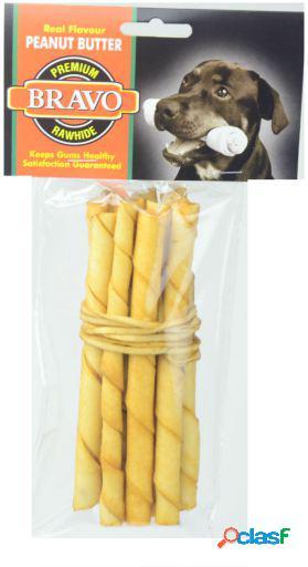 Bravo Palito Twist Manteca De Cacahuete 5' Pack 10 unidades