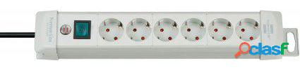 Brennenstuhl Regleta premium line 6 tomas gris light 3m