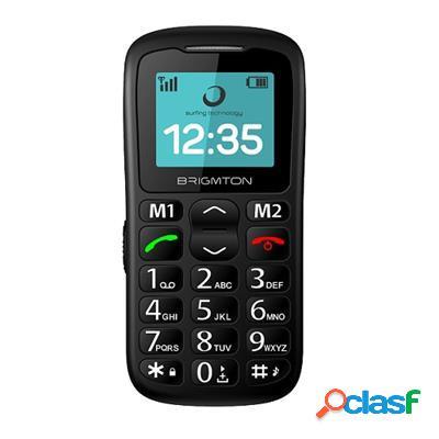 """Brigmton Btm11 Telefono Movil 1. 7"""" Sos Bt + Dock, original"""