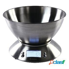Báscula digital de cocina con cuenco de acero inoxidable