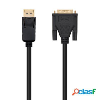 Cable conversor Dp a Dvi negro, 3m, original de la marca