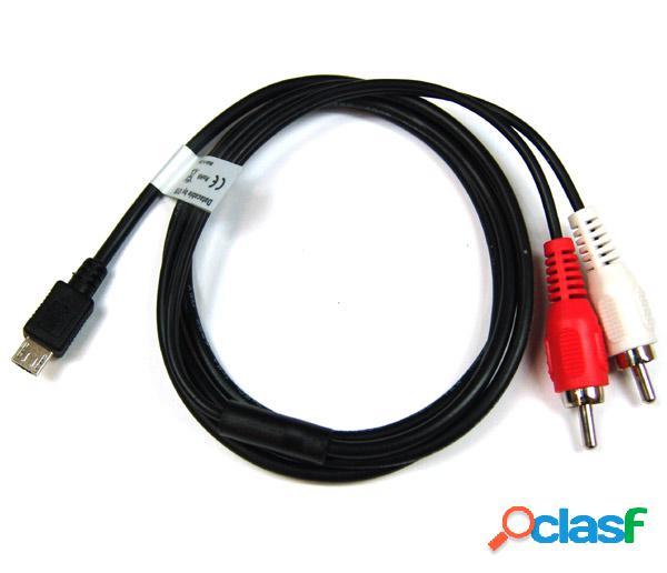 Cable usb de musica de micro usb a Rca