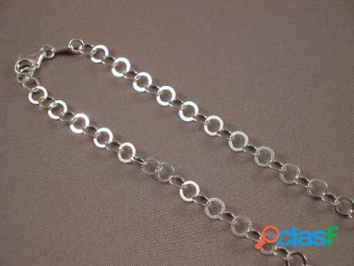 Cadena de plata aros 060 de 70 cm.
