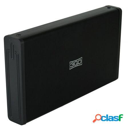 """Caja externa 3go para discos duros hdd35bk312 - 3.5""""/8.89cm"""