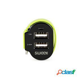 Cargador de coche 3-salidas 6 a 2 x usb / micro usb