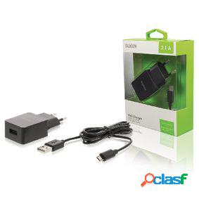 Cargador de pared con cable micro usb independiente, color