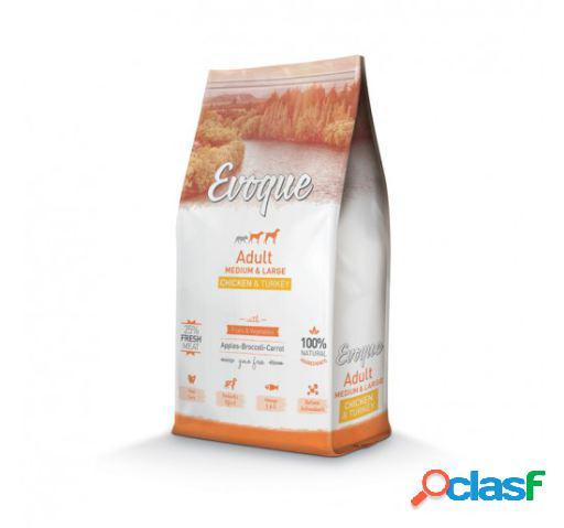 Evoque Adult Medium/Large Pollo Pavo y Arroz 8 KG