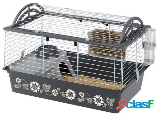 Ferplast Jaula para Conejos y Cobayas Casita 80 Decor