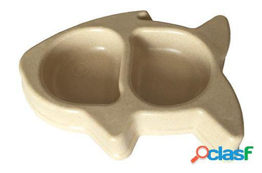 Freedog Bowl Bamboo Twinfish Para Gatos Verde