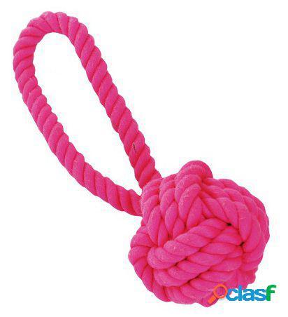 Freedog Mordedor Rope ball verde y rosa Verde