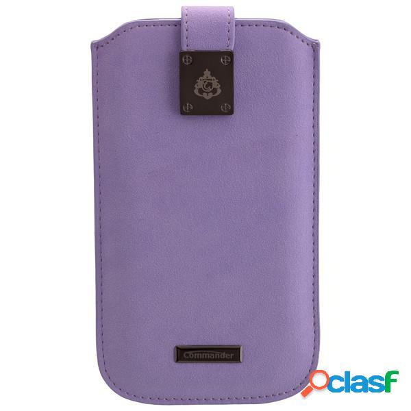 Funda Commander Milano Xxl 5. 0 Fleure violeta para Samsung