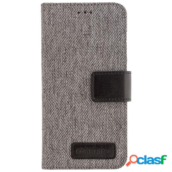 Funda tipo libro Commander gris para Huawei P10 Lite
