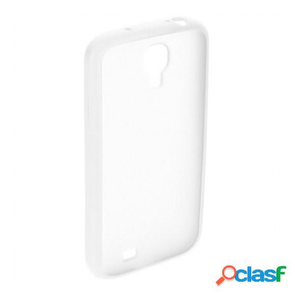 Funda trasera para Samsung Galaxy S4, transparente blanca