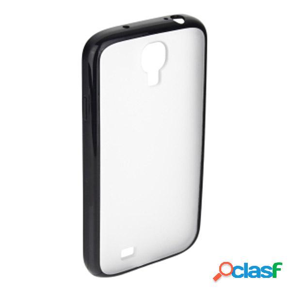 Funda trasera para Samsung Galaxy S4, transparente negra