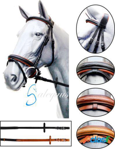 Galequus Cabezada Inglesa 1073 redonda Goma Cob para caballo