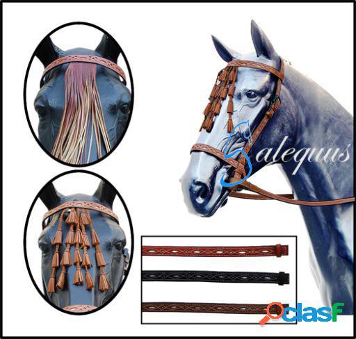 Galequus Cabezada Vaquera Calada con Mosquero para caballos