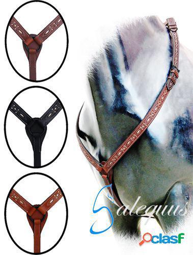 Galequus Petral Vaquero Calado Marrón para caballos