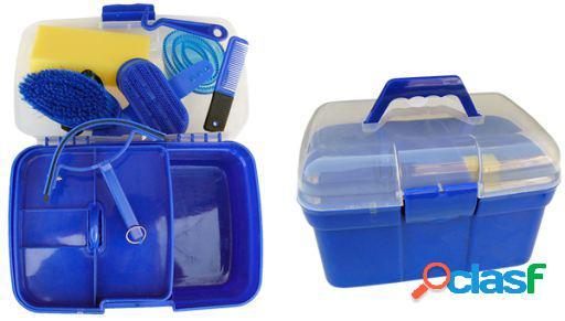 Gómez Caja útiles de limpieza con accesorios grande roja