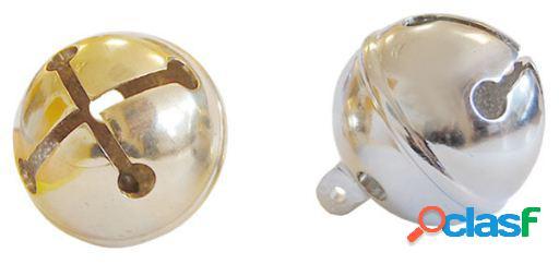 Gómez Cascabel latón cromado con 2 cortes 4,5 centímetros