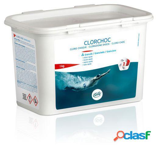 Gre Cloro Choque Granulado 1 kg en 1/2 box de 200 unidades
