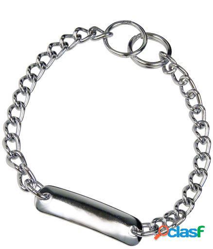 HS Sprenger Collar Con Placa Acero Cromado 50 Cm
