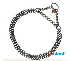 HS Sprenger Collar Doble 2Mm Acero Inoxidable Negro 35 Cm
