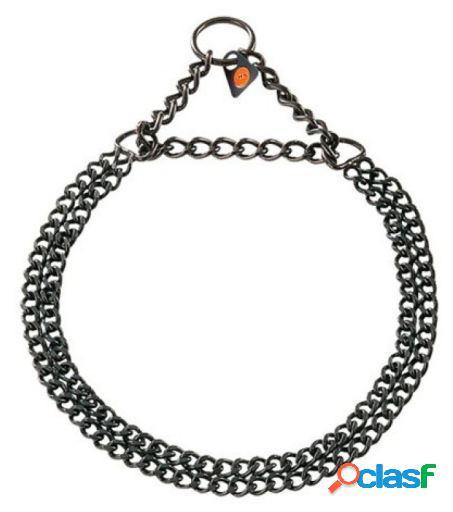 HS Sprenger Collar Doble 2Mm Acero Inoxidable Negro 45 Cm