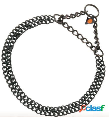 HS Sprenger Collar Doble 2Mm Acero Inoxidable Negro 50 Cm