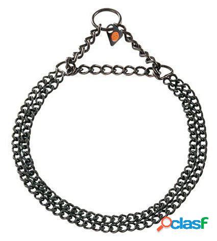 HS Sprenger Collar Doble 2Mm Acero Inoxidable Negro 55 Cm