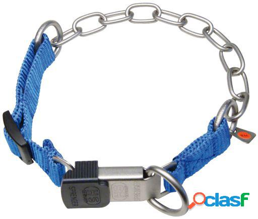 HS Sprenger Collar combi inoxidable mate- nylon lock azul