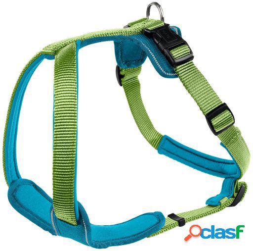Hunter Arnés Neopren para perros verde y azul S