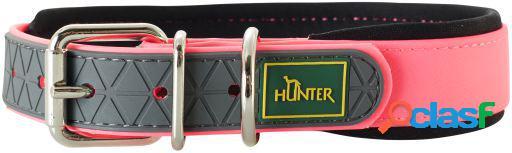 Hunter Collar Convenience para perros color rosa neón T-40