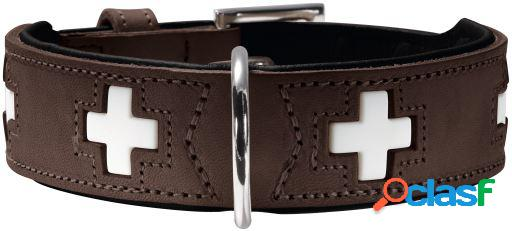Hunter Collar Swiss para perros color marrón y negro T-37