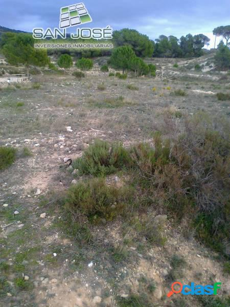 Inmobiliaria San Jose vende esta parcela en Sax Alicante