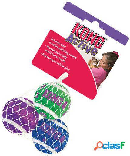 KONG Kong Cat Tenis Balls Con Cascabel