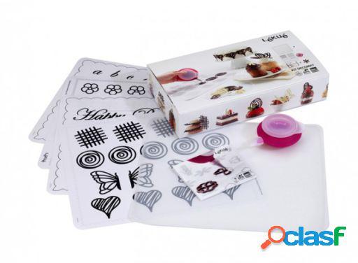 Lékué Kit Decomat (Decopen + Tapete + 4 Plantillas)