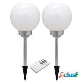 Lámpara led solar para jardín con mando a distancia y