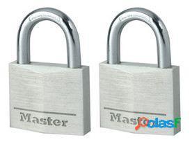 Masterlock Candado de 40 mm de ancho con cuerpo de aluminio