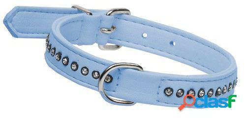 Mgz Alamber Collar Diamantes 1 Fila Azul 25 X 1.5 Cm