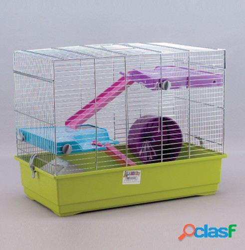 Mgz Alamber Jaula Hamster Cromo 50 2 Pisos