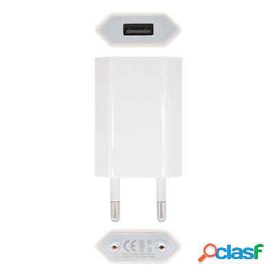 Mini Cargador Usb Para Ipod Iphone,5V-1A, Blanco, original