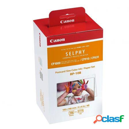 Multipack canon rp-108 cartucho tinta color + papel