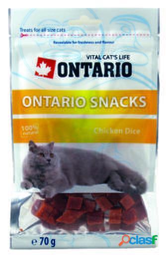 Ontario Cat Snack Chicken Dice 70 gr 70 GR