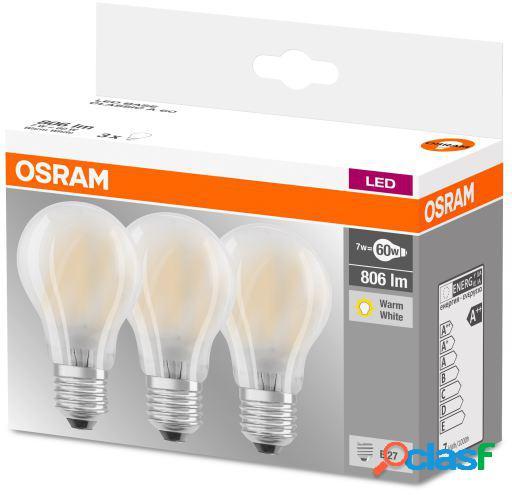 Osram Pack 3 Unidades Led Base Estandar 60 No Regulable