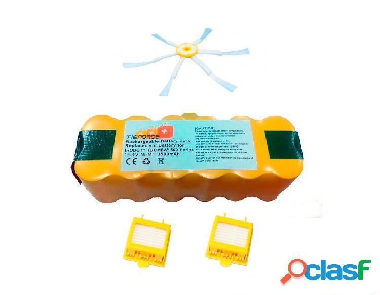 Pack Roomba serie 700: Bateria 3500 mAh + 2 Filtro Hepa +